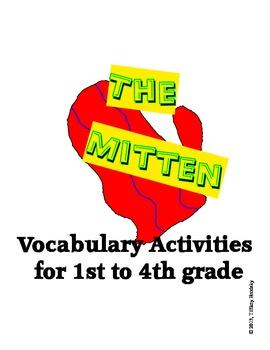 The Mitten by Jan Brett Vocabulary Activities Matching Gam