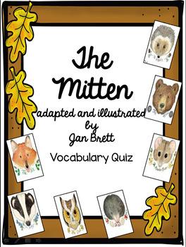 The Mitten by Jan Brett Vocabulary Quiz