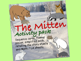 The Mitten Activity Pack:  sequence cards, flannel pieces,