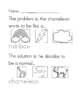 The Mixed Up Chameleon problem/solution worksheet