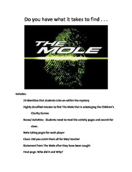 Reading Activity: Mystery- The Mole at Children's Charity Games