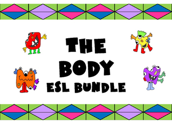 The Monsters and the Body Vocabulary Bundle – The Body ESL