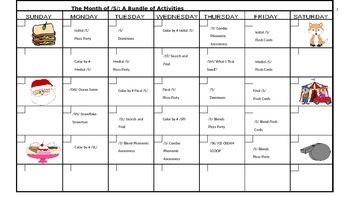 The Month of /S/: 20 Activities to Promote Articulation of