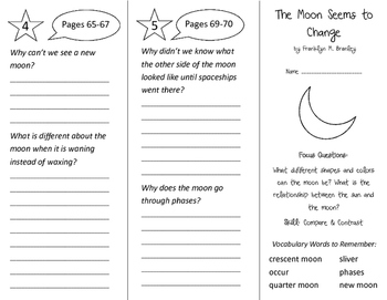 The Moon Seems To Change Trifold - Imagine It 3rd Grade Un