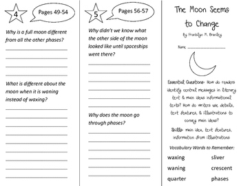 The Moon Seems To Change Trifold - ReadyGen 2016 3rd Grade