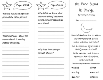 The Moon Seems To Change Trifold - ReadyGen 3rd Grade Unit