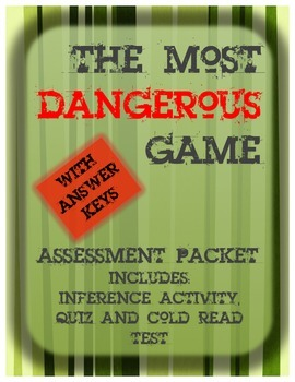 """""""The Most Dangerous Game"""" Assessment Pack"""