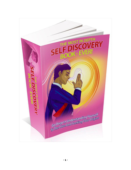 The Most In Depth Self Discovery Book Ever