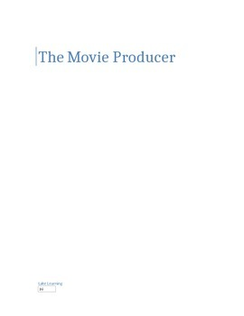 The Movie Producer