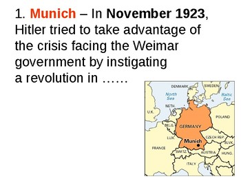 The Munich Putsch (Beer Hall) Quiz