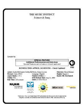 The Music Instinct Science & Song Worksheet