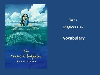 The Music of Dolphins - Vocab whole Book