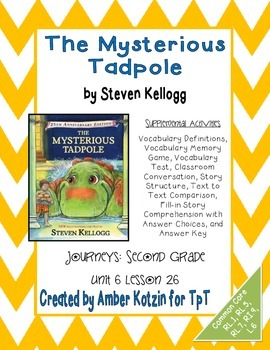 The Mysterious Tadpole Activities 2nd Grade Journeys Unit