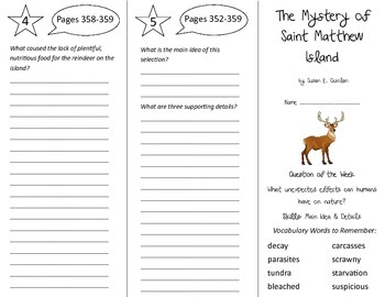 The Mystery of Saint Matthew Island Trifold - Reading Stre