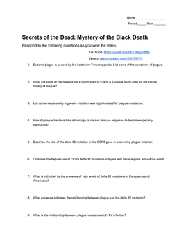 The Mystery of the Black Death: Video Guide