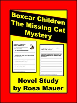 The Mystery of the Missing Cat The Boxcar Children #42 Book Unit