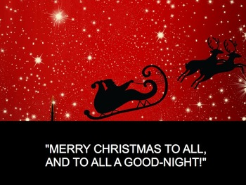 """""""The Night Before Christmas"""" Read-Along Video/Movie by Tro"""