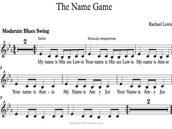 The Name Game: Blues Call and Response Original Song