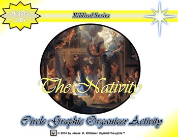 The Nativity Jesus Christ's Birth Circle Graphic Organizer