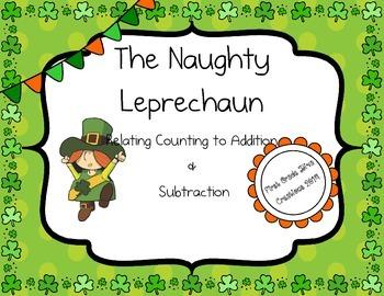 The Naughty Leprechaun {A Printable Math Center/Game for S
