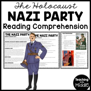 The Nazi Party article with 6 questions- multiple choice,