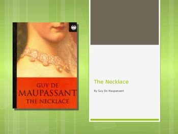 The Necklace Anticipation Guide and Close Reading