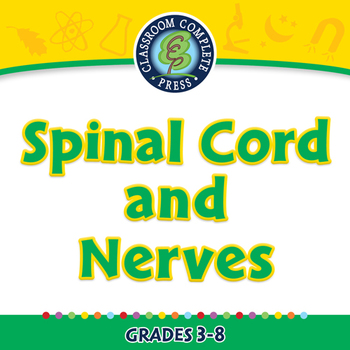 The Nervous System - Spinal Cord and Nerves - NOTEBOOK Gr. 3-8