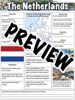 The Netherlands Worksheet