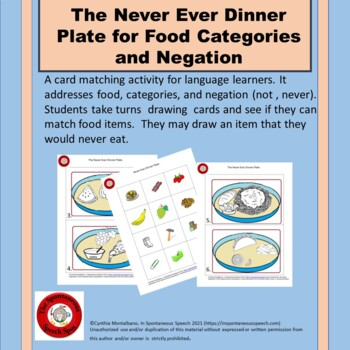 """The Never Ever Dinner Plate for Food Categories and """"Not"""""""
