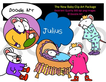 The New Baby Clipart Pack