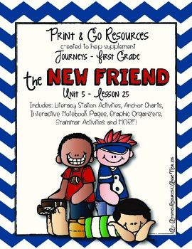 The New Friend - Journeys First Grade Print and Go