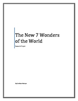 The New Seven Wonders of the World Research Project