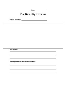 The Next Big Inventor