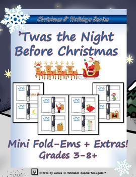 The Night Before Christmas Mini Fold-Ems and Activities