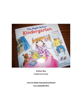 The Night Before Kindergarten with Common Core skills