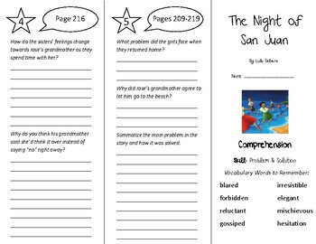 The Night of San Juan Trifold - Treasures 5th Grade Unit 2