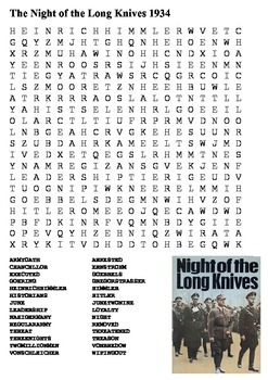 The Night of the Long Knives - Nazi Germany Word Search