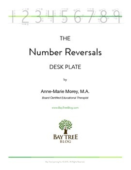 The Number Reversals Desk Plate
