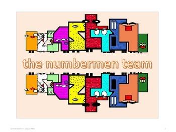 The Numbermen Clip Art