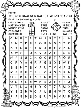 The Nutcracker Ballet Word Search