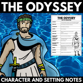 The Odyssey Novel Study Unit Character and Setting Notes