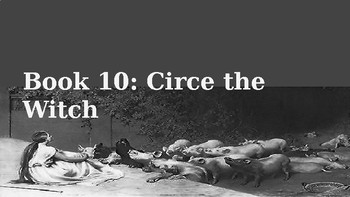 The Odyssey Book 10 Circe the Witch Lesson Plan
