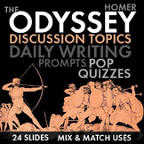 Odyssey, Homer, Discussion Starters, Pop Quizzes, Writing