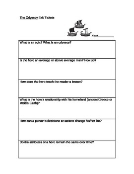 The Odyssey Exit Tickets