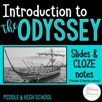 The Odyssey - Introduction Notes, Prezi, Secondary