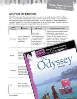 The Odyssey Leveled Comprehension Questions