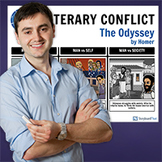 The Odyssey: Literary Conflict Poster