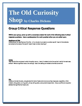 The Old Curiosity Shop - Dickens - Group Critical Response