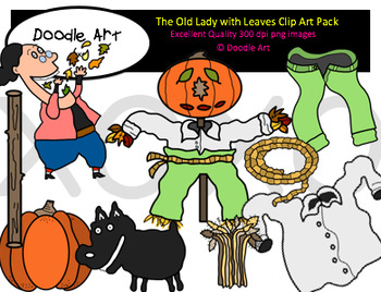 The Old Lady with Leaves Clipart Pack