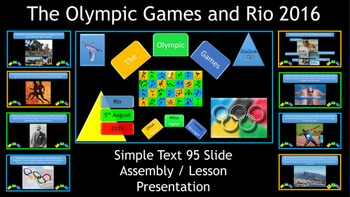 The Olympic Games and Rio 2016 Presentation - Simple Text